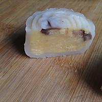 奶黄栗子馅冰皮月饼的做法图解3