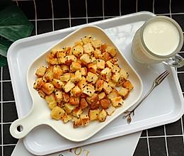 #花10分钟,做一道菜!#香烤吐司丁的做法