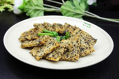 剩饭变零食,芝麻米饭饼(空气炸锅版)