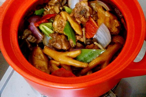 野味砂煲鸡煲的做法