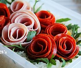可以吃的玫瑰花园【玫瑰园便当】零厨艺也能做的做法