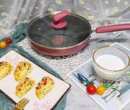 鲜虾香肠厚蛋烧的做法