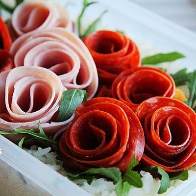 可以吃的玫瑰花园【玫瑰园便当】零厨艺也能做