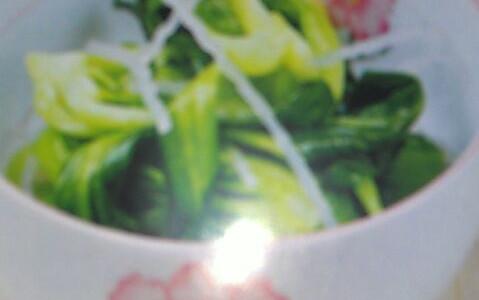 粉条拌油菜的做法