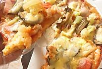 平民披萨--手抓饼版(无烤箱)的做法
