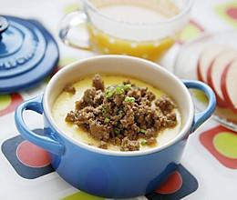 豆果独家:肉沫蒸蛋羹的做法