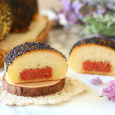 芝麻午餐肉面包