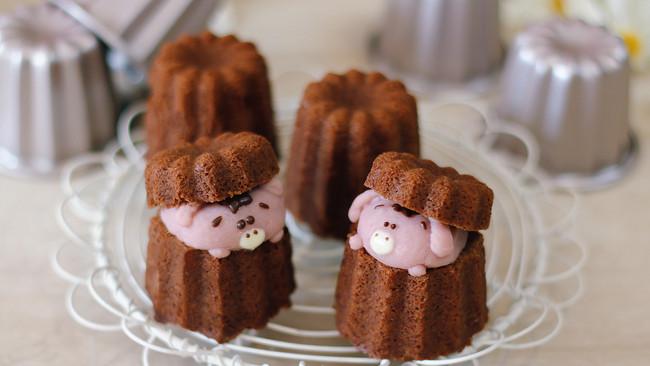 芋泥小猪巧克力磅蛋糕的做法