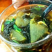减肥餐~紫菜虾皮冬瓜汤的做法图解3