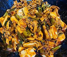 【鸡炒】新疆酱香鸡肉炒年糕/米粉/宽粉/馕的做法