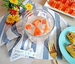 #爱乐甜夏日轻脂甜蜜#木瓜奶茶的做法
