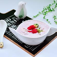 #换着花样吃早餐#草莓牛奶燕耳露