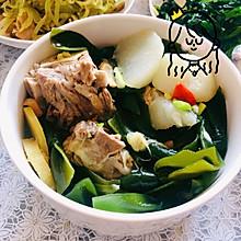 低脂健康又美味~萝卜海带排骨汤