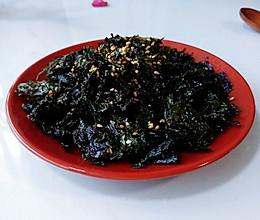 芝麻香油烤紫菜的做法
