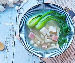 #洗手做羹汤# 清甜低脂的豆腐菌汤的做法