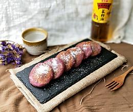 紫薯糯米饼#金龙鱼外婆乡小榨菜籽油 外婆的食光机#的做法