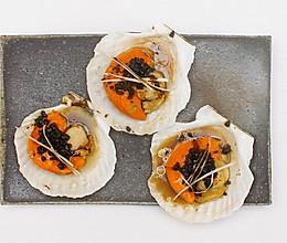 葱香豆豉蒸扇贝 与 蒜泥粉丝蒸扇贝|美食台的做法