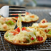 三文鱼时蔬小披萨#百吉福芝士力量#的做法图解5