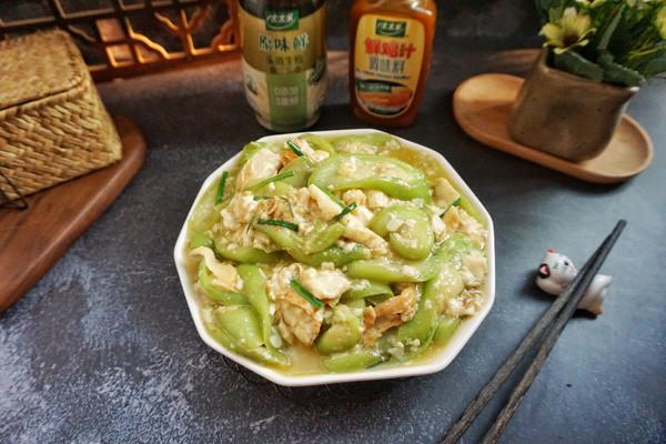 蒜香丝瓜炒豆干的做法