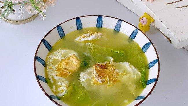 低卡掉秤生菜鸡蛋汤的做法