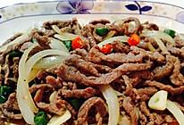 干炒牛肉洋葱丝的做法