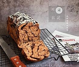 奥利奥巧克力雪山吐司#憋在家里吃什么#的做法