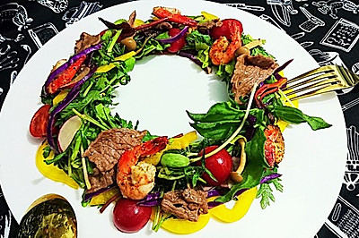温暖沙拉Salad圣诞花环色拉-蜜桃爱营养师私厨-健身减肥