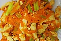 鸡胸肉炒胡萝卜(芹菜版)的做法