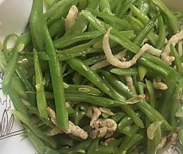 扁豆角炒肉丝的做法