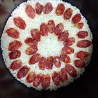 腊肠焖饭#美的初心电饭煲#的做法图解3
