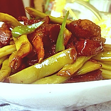 肉烧四季豆