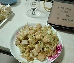 圆白菜(甘蓝)炒馒头块的做法