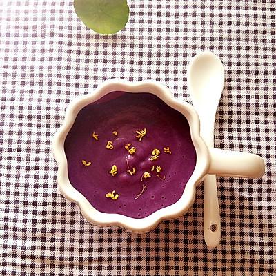 桂花紫薯牛奶羹