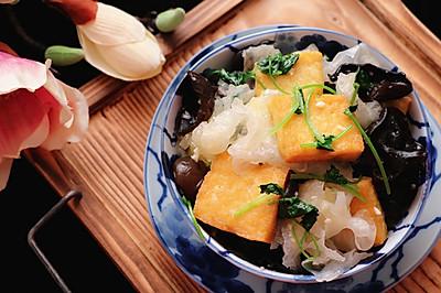 降三高家常菜,双耳炒豆腐