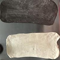 黑白双煞双色哈斯面包(糖渍橙皮,巧克力,奶油)的做法图解4