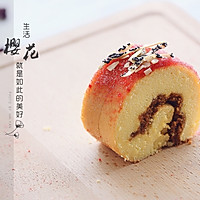 樱花肉松蛋糕卷的做法图解23
