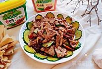 #美食视频挑战赛# 非常简单的家常黄瓜炒猪肝的做法