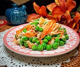 蟹柳烩豌豆的做法