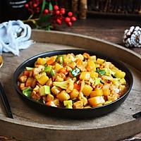 #520,美食撩动TA的心!# 鸡丁炒杂蔬的做法图解16