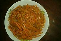 胡萝卜丝炒粉条的做法