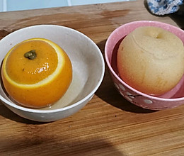 炖冰糖雪梨和炖橙子(自己做的感冒药)的做法