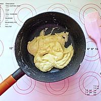 蝶豆花小熊日式棉花蛋糕卷的做法图解3