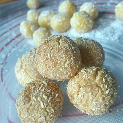 椰香蛋黄/蛋白球