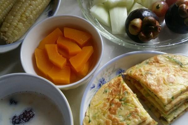 南瓜丝蛋饼的做法