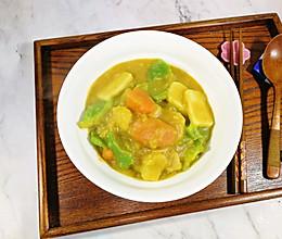 芋头蔬菜年糕咖喱煲的做法