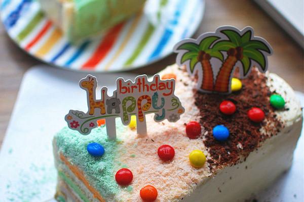 彩虹蛋糕(长方形)的做法