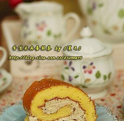 香蕉芝麻蛋糕卷