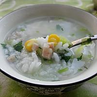 剩米饭大变身,营养火腿玉米蔬菜粥