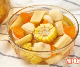 甘蔗玉米甜汤的做法