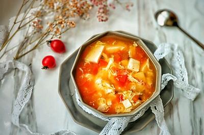 懒人开胃酸辣汤,西红柿的另类打开方式